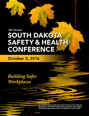 2016 South Dakota Safety and Health Conference Brochure